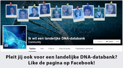 DNA Databank op Facebook